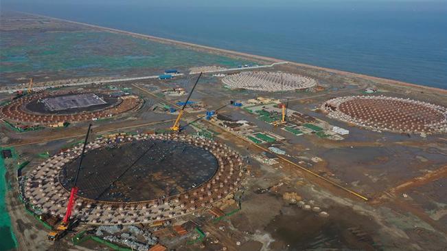 河北唐山液化天然氣項目加緊建設
