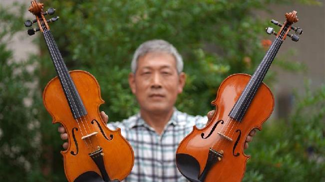 為夢想而執著——河北六旬農民36年巧手制作小提琴